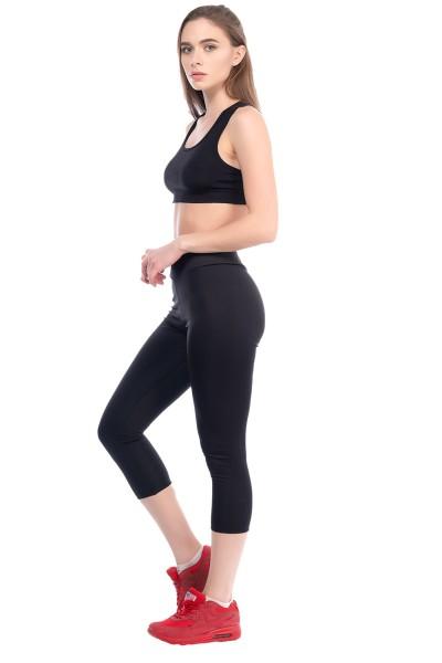 Damen Leggings Fitness Trainingshose Sporthose Tight Mittelhohe Bund 22517