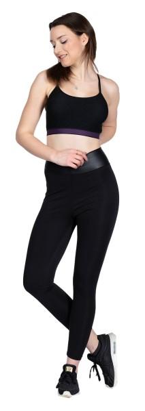 Damen Leggings Fitness Trainingshose Sporthose Tight Mittelhohe Bund