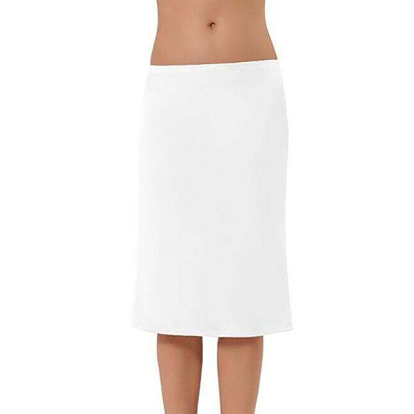 Damen Unterrock mit Gummizug Underskirt Jupon Lang Lingerie